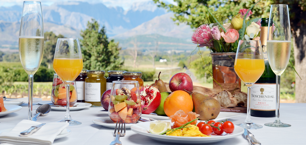 Dining:      Boschendal Farm Luxury Accommodation  in Franschhoek