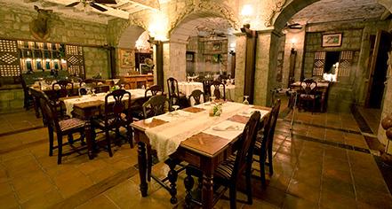 Dining at      Las Casas Filipinas de Acuzar  in Bagac