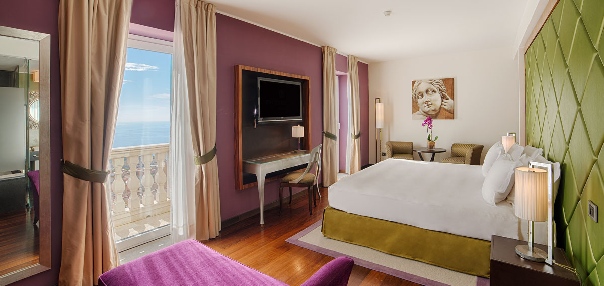 Accommodations:      NH Collection Taormina  in Taormina