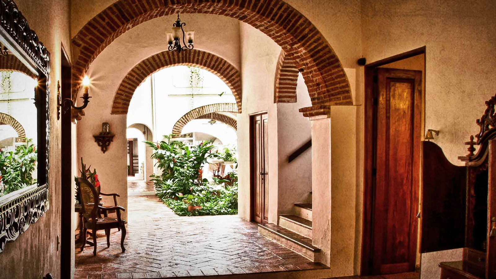 Image of lobby lounge at Alfiz Hotel, 1700, Member of Historic Hotels Worldwide, in Cartagena de Indias, Colombia, Discover