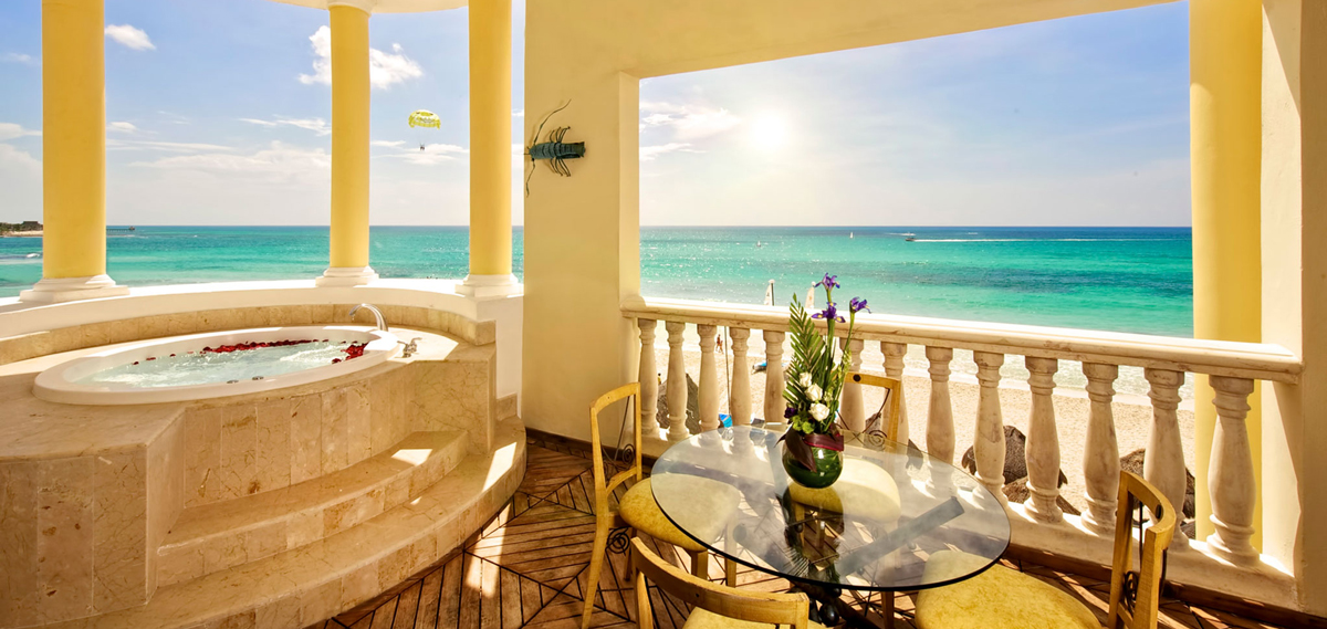 Iberostar Grand Hotel Paraiso, Playa del Carmen on Riviera Maya, Oceanview Suite with Jacuzzi
