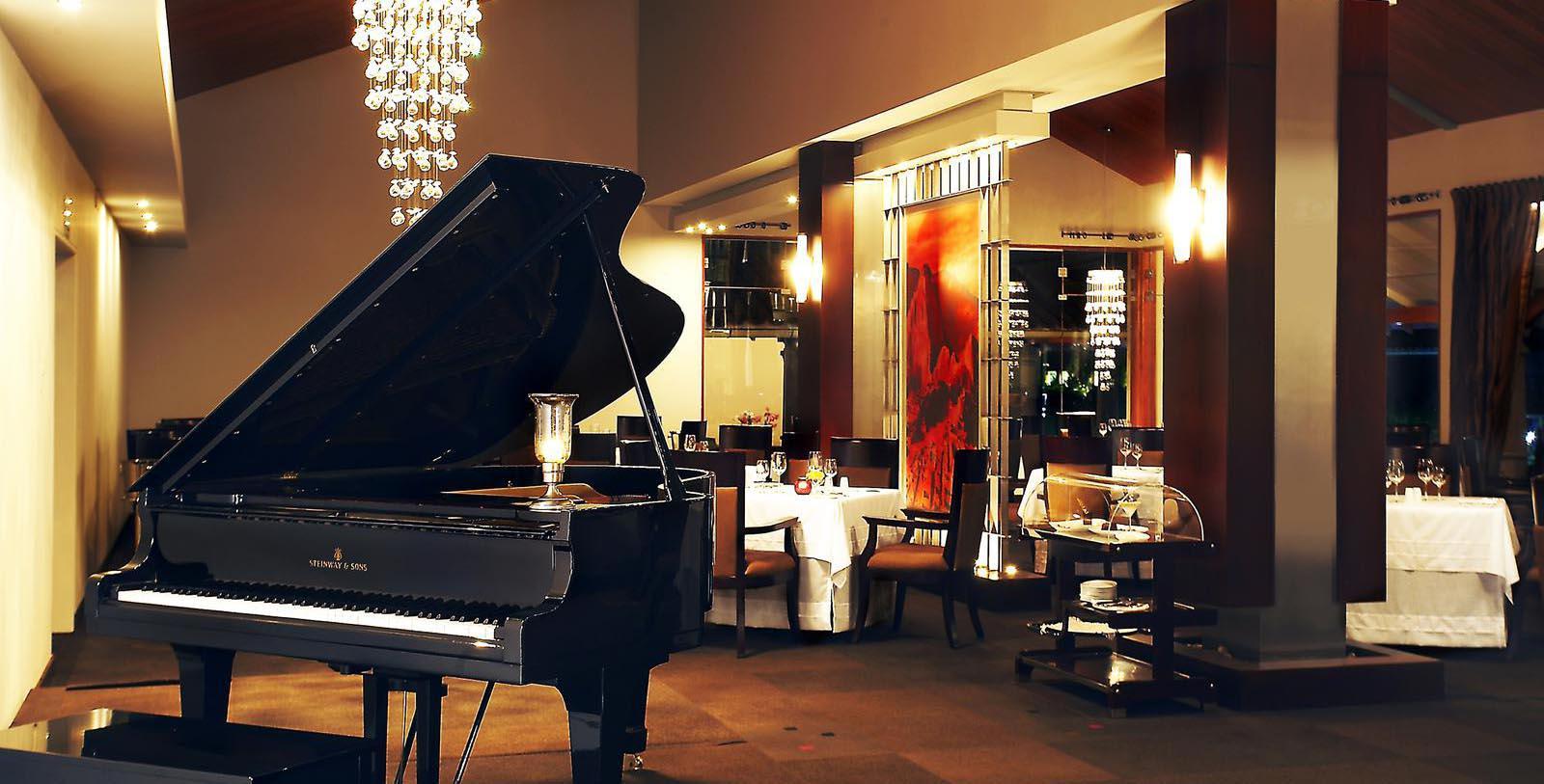 Image of grand piano in restaurant Aranwa Sacred Valley, 1900, Member of Historic Hotels Worldwide, in Urubamba, Peru, Taste
