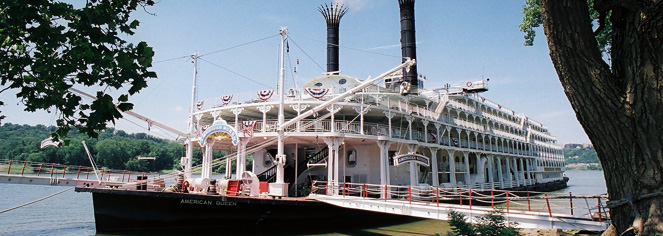 American Queen Steamboat Company – Ohio & Tennessee River Cruises  in Cincinnati