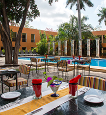 Dining at      Hacienda Uxmal Plantation & Museum  in Uxmal