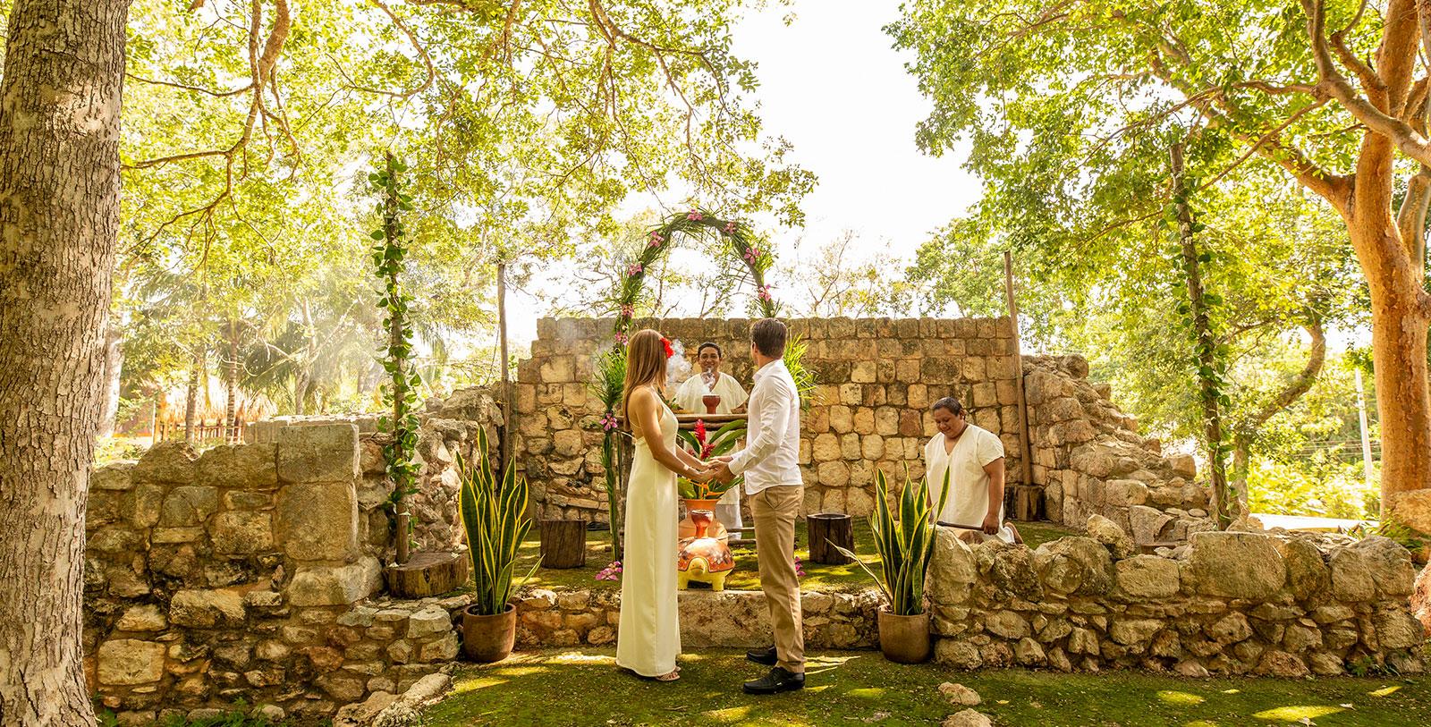 Image of Bride & Groom, Hacienda Uxmal Plantation & Museum, Member of Historic Hotels Worldwide, Weddings