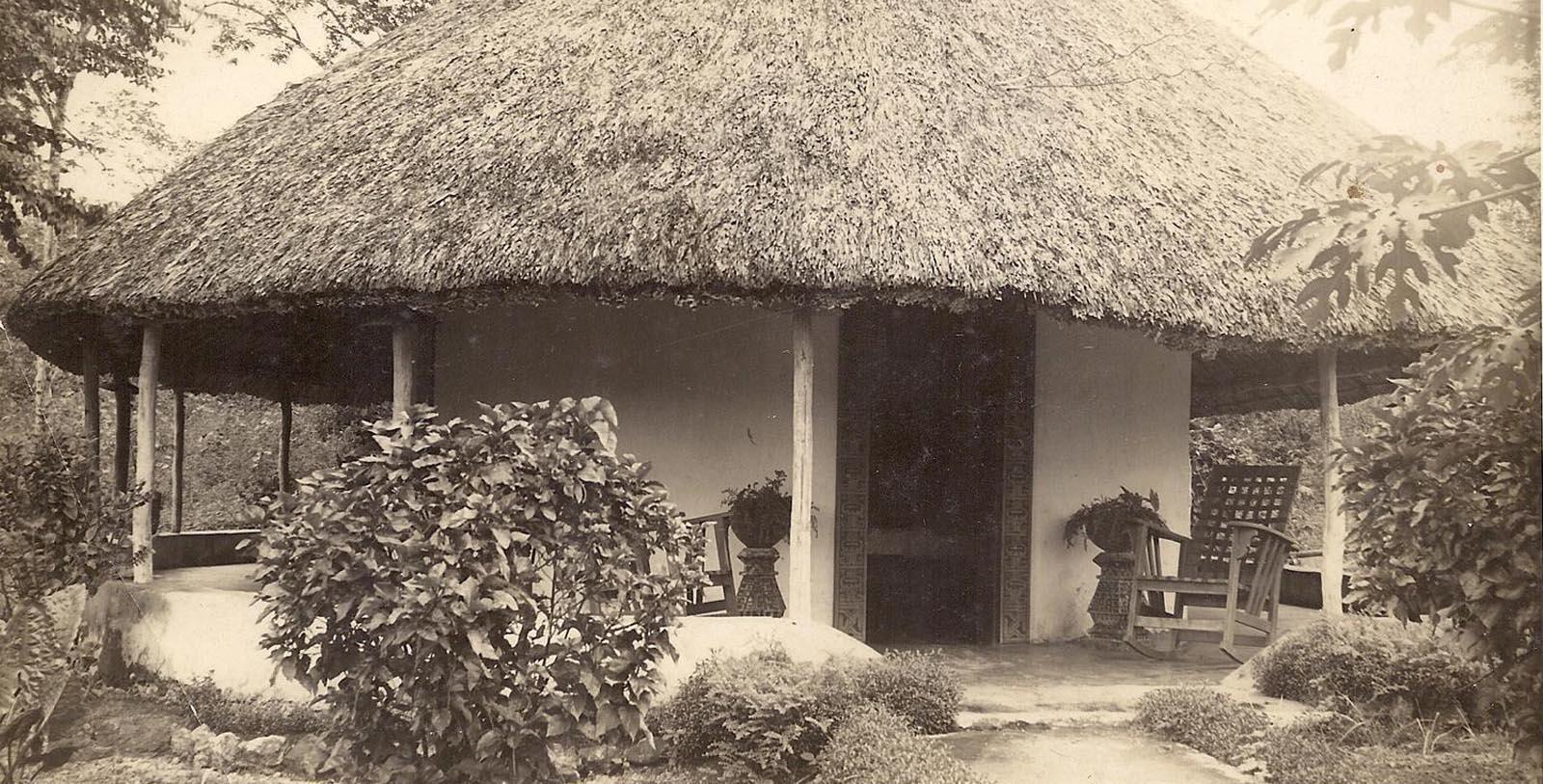 Historic Exterior of Mayaland Lounge in Chichen Izta, Yucatan, Mexico