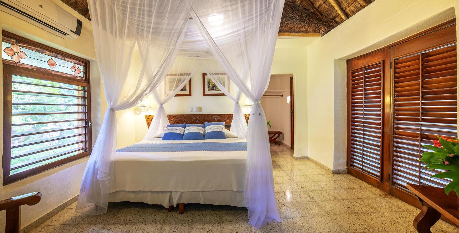 Image of Guestroom Interior Mayaland Hotel & Bungalows,1923, Member of Historic Hotels Worldwide, in Chichen Itza, Mexico, Location