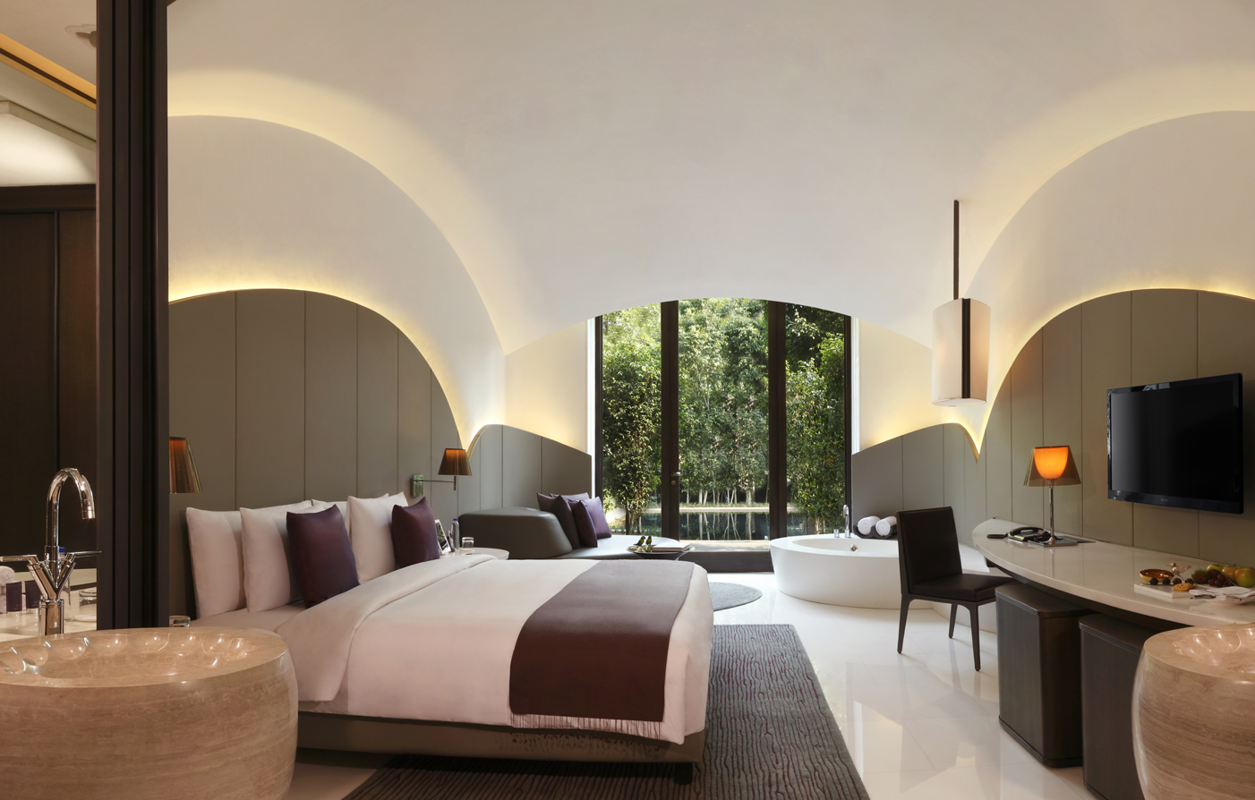 Accommodations:      The Roseate New Delhi  in New Delhi