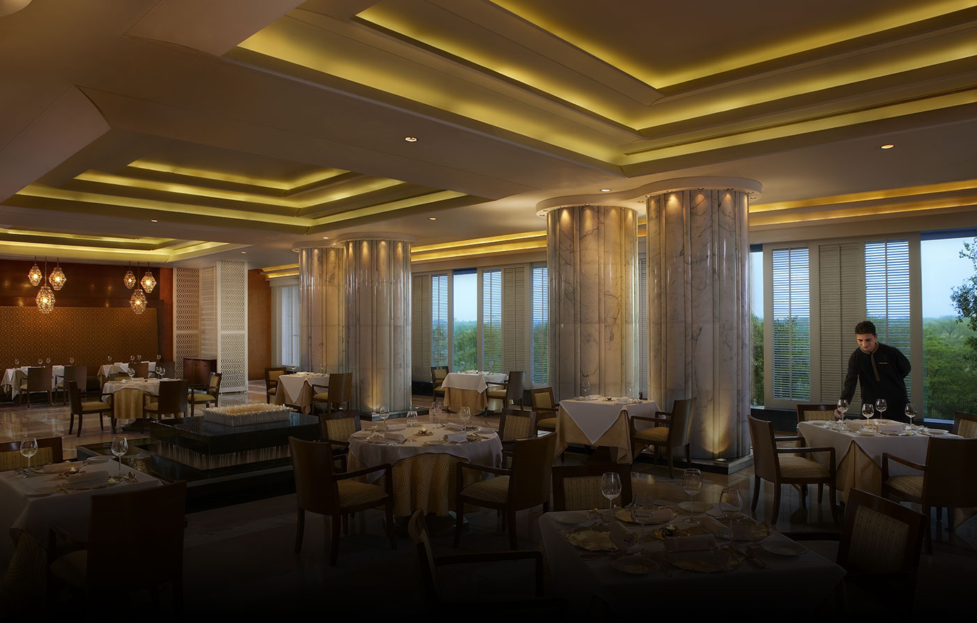 Dining:      The Leela Ambience Gurugram Hotel & Residences  in Gurugram