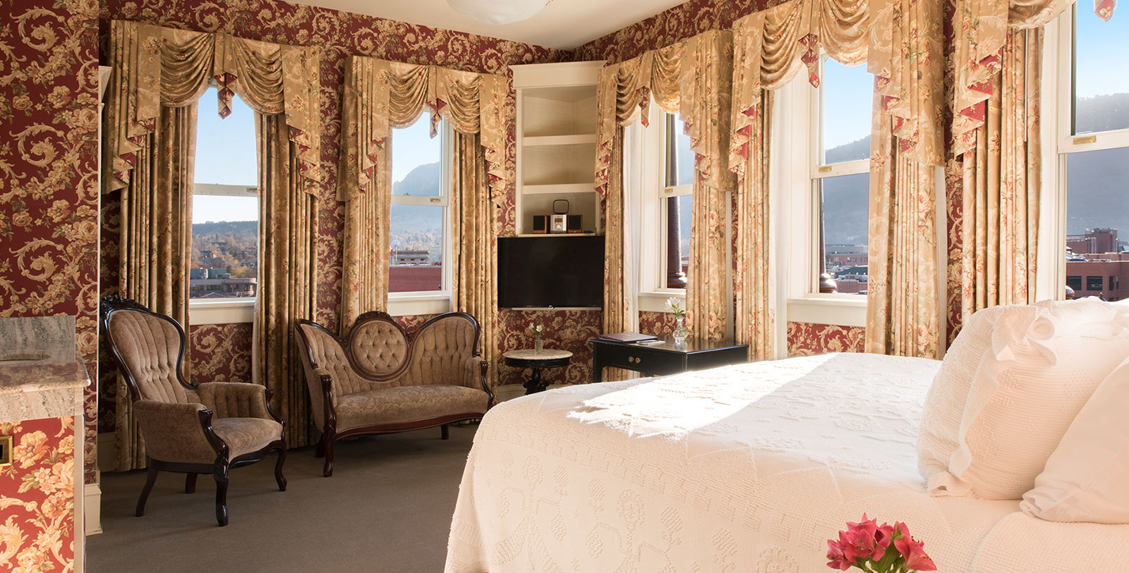 Image of Historic King Guestroom Interior, Hotel Boulderado in Boulder, Colorado, 1909, Member of Historic Hotels of America, Accommodations