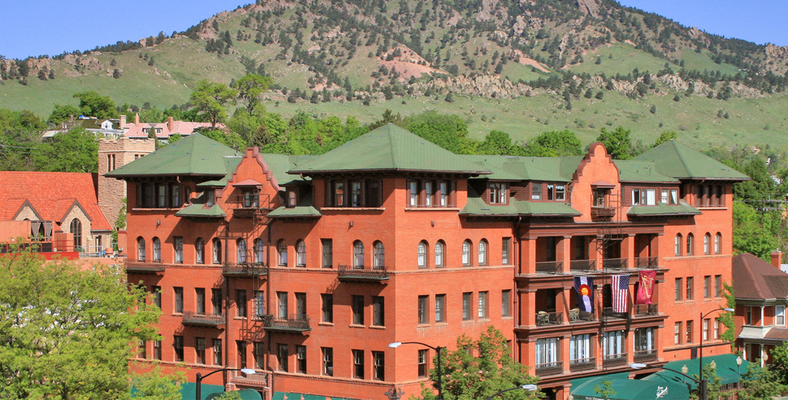 Image of Hotel Exterior, Hotel Boulderado in Boulder, Colorado, 1909, Member of Historic Hotels of America, Special Offers, Discounted Rates, Families, Romantic Escape, Honeymoons, Anniversaries, Reunions