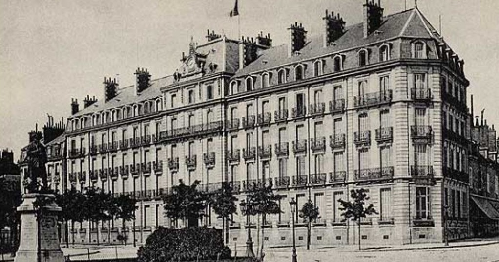 Historical Drawing of Exterior, Grand Hôtel La Cloche Dijon - MGallery by Sofitel, 1881, Member of Historic Hotels Worldwide, in Dijon, France.