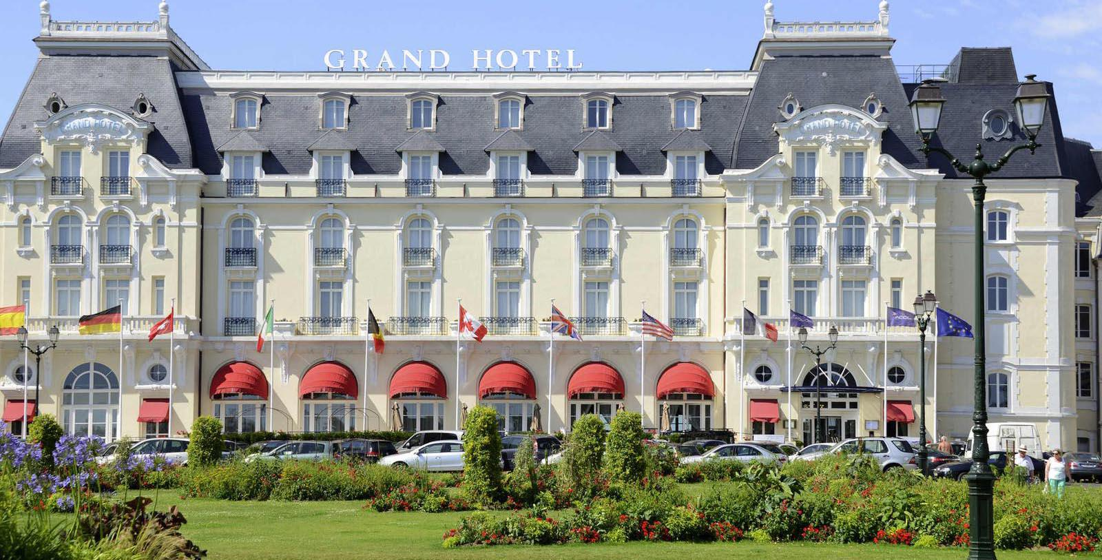 Image of Hotel Exterior Le Grand Hôtel Cabourg - MGallery by Sofitel, 1907, Member of Historic Hotels Worldwide, in Cabourg, France, Special Offers, Discounted Rates, Families, Romantic Escape, Honeymoons, Anniversaries, Reunions