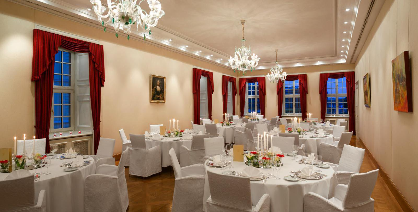 Image of Meeting Room Banquet, Hotel Taschenbergpalais Kempinski Dresden, Germany, 1700s, Member of Historic Hotels Worldwide, Special Occasions
