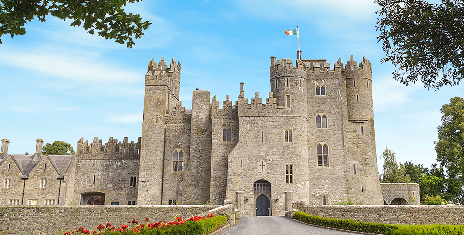 Image of Hotel Exterior at Kilkea Castle, 1180, Member of Historic Hotels Worldwide, in Kildare, Ireland, Special Offers, Discounted Rates, Families, Romantic Escape, Honeymoons, Anniversaries, Reunions