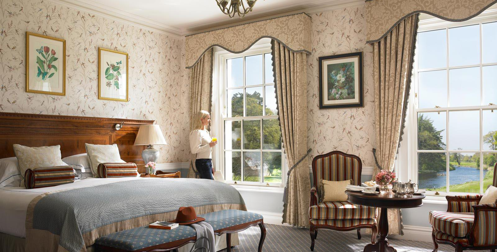 Image of River View Guestroom at The K Club, 550, Member of Historic Hotels Worldwide, in Straffan, County Kildare, Ireland, Hot Deals
