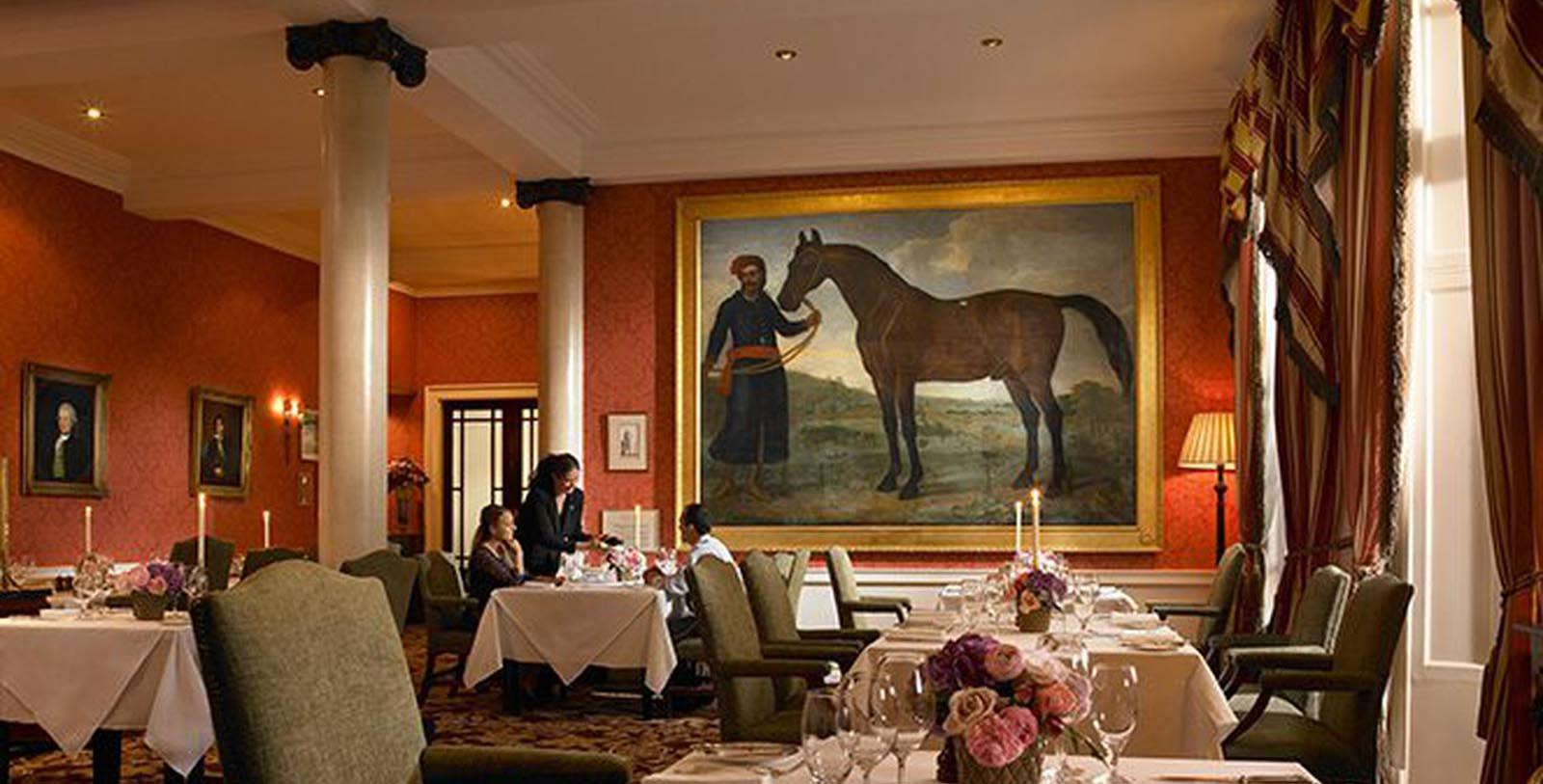 Image of Dining Room at the Byerley Turk Restaurant at The K Club, 550, Member of Historic Hotels Worldwide, in Straffan, County Kildare, Ireland, Taste