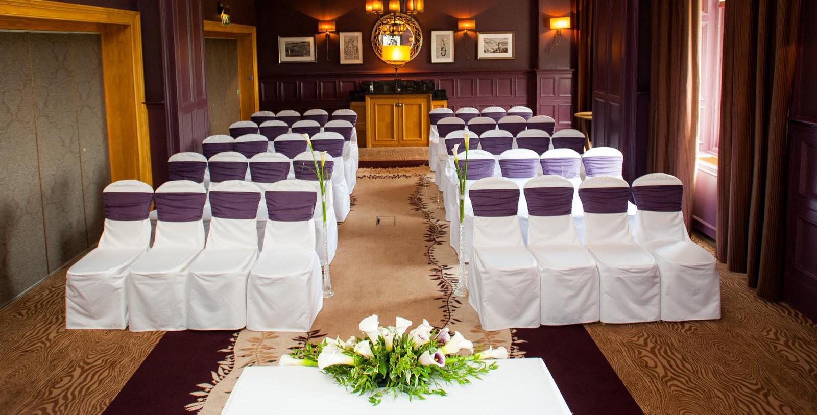 Image of indoor wedding ceremony DoubleTree by Hilton Hotel Dunblane Hydro, 1878, Member of Historic Hotels Worldwide, in Dunblane, Scotland, Special Occasions