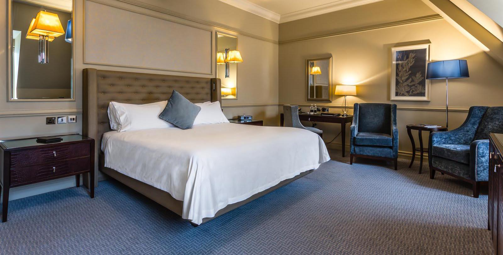 Image of Guestroom at Waldorf Astoria Edinburgh - The Caledonian, 1903, Member of Historic Hotels Worldwide, in Edinburgh, Scotland, United Kingdom, Location Map