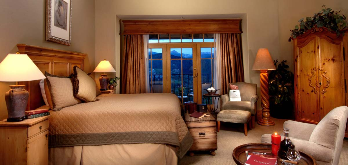 Accommodations:      The Lodge & Spa at Cordillera  in Edwards
