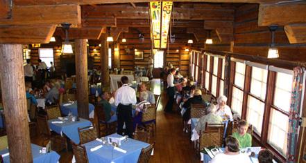 Dining at      Lake McDonald Lodge  in Glacier National Park