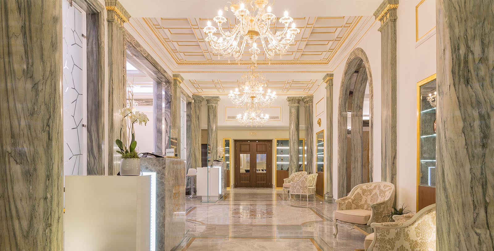 Image of lobby interior Aleph Rome Hotel, Curio Collection by Hilton, 1930, Member of Historic Hotels Worldwide, in Rome, Italy, Discover