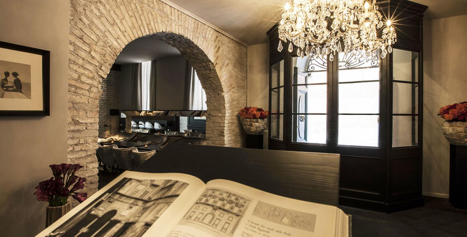 Image of the interior of the DOM Hotel, Rome Italy, Overview