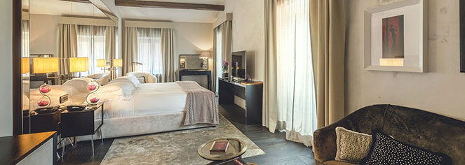 Accommodations:      DOM Hotel  in Rome