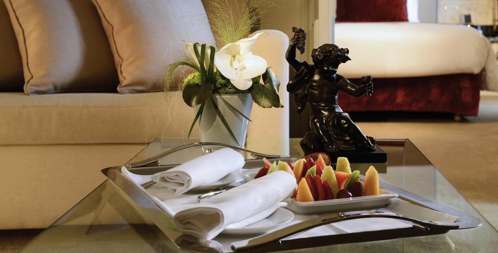 Image of Fruit in Guestroom at Sofitel Rome Villa Borghese, 1890, Member of Historic Hotels Worldwide, in Rome, Italy, Explore