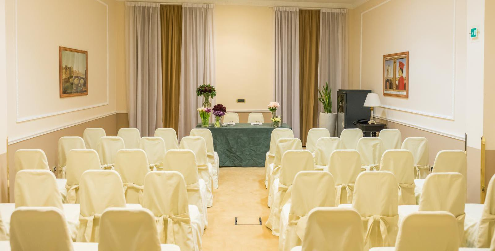 Image of meeting space classroom set up Bernini Palace Hotel, 1500, Member of Historic Hotels Worldwide, in Florence, Italy, Experience