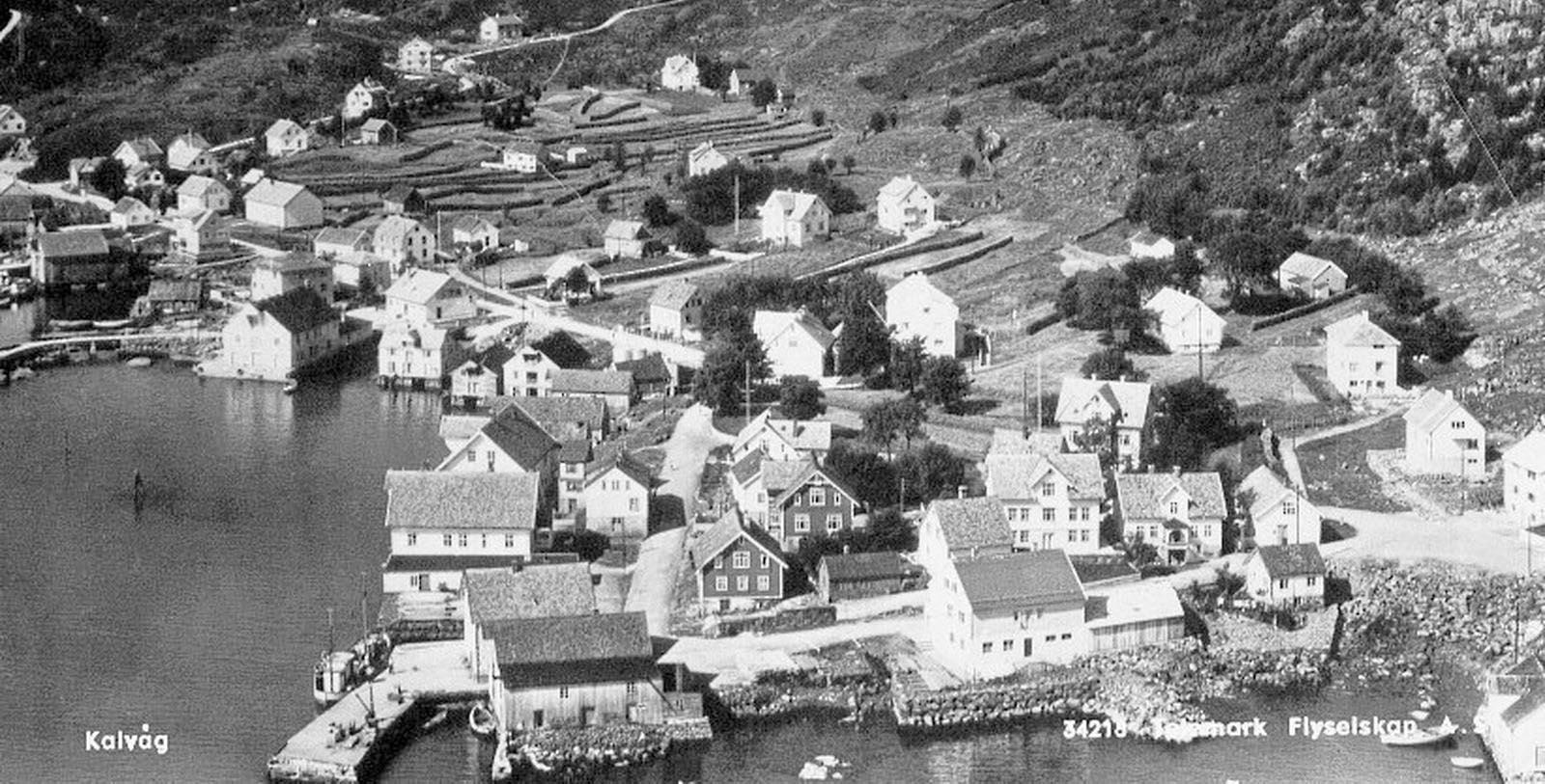 Historic Aerial View of Hotel Knutholmen Hotell, 1860, Member of Historic Hotels Worldwide, in Kalvag, Norway, Discover