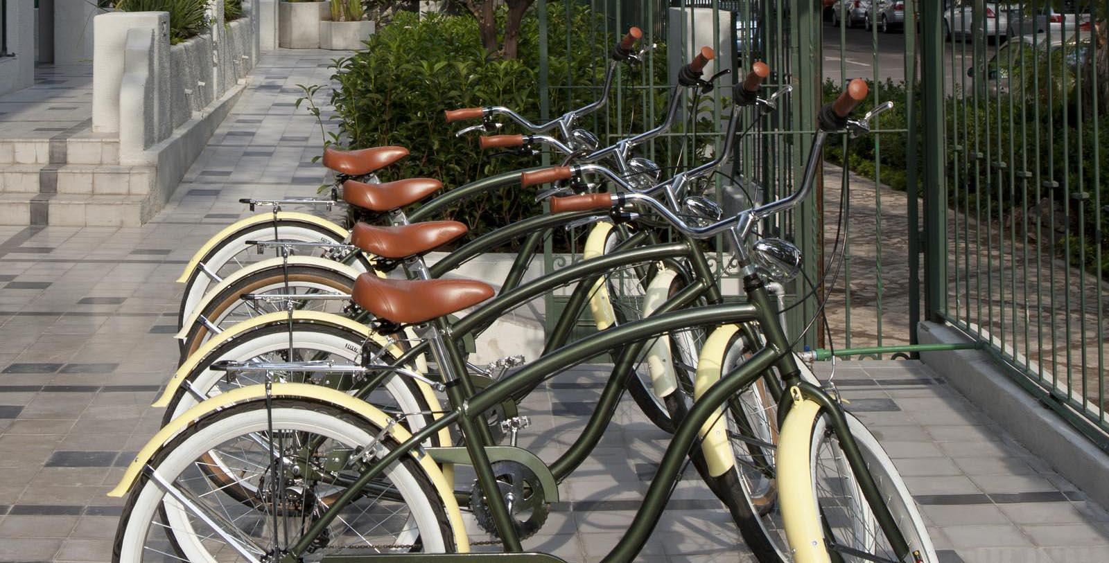 Image of bikes available for rent Casa Habita, 1938, Member of Historic Hotels Worldwide, in Guadalajara, Mexico, Explore
