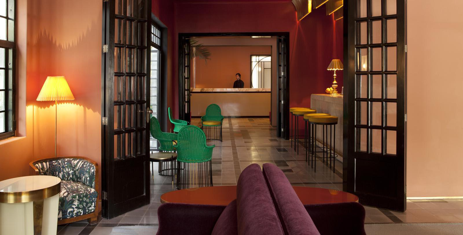 Image of entranceway front desk check in area Casa Habita, 1938, Member of Historic Hotels Worldwide, in Guadalajara, Mexico, Discover