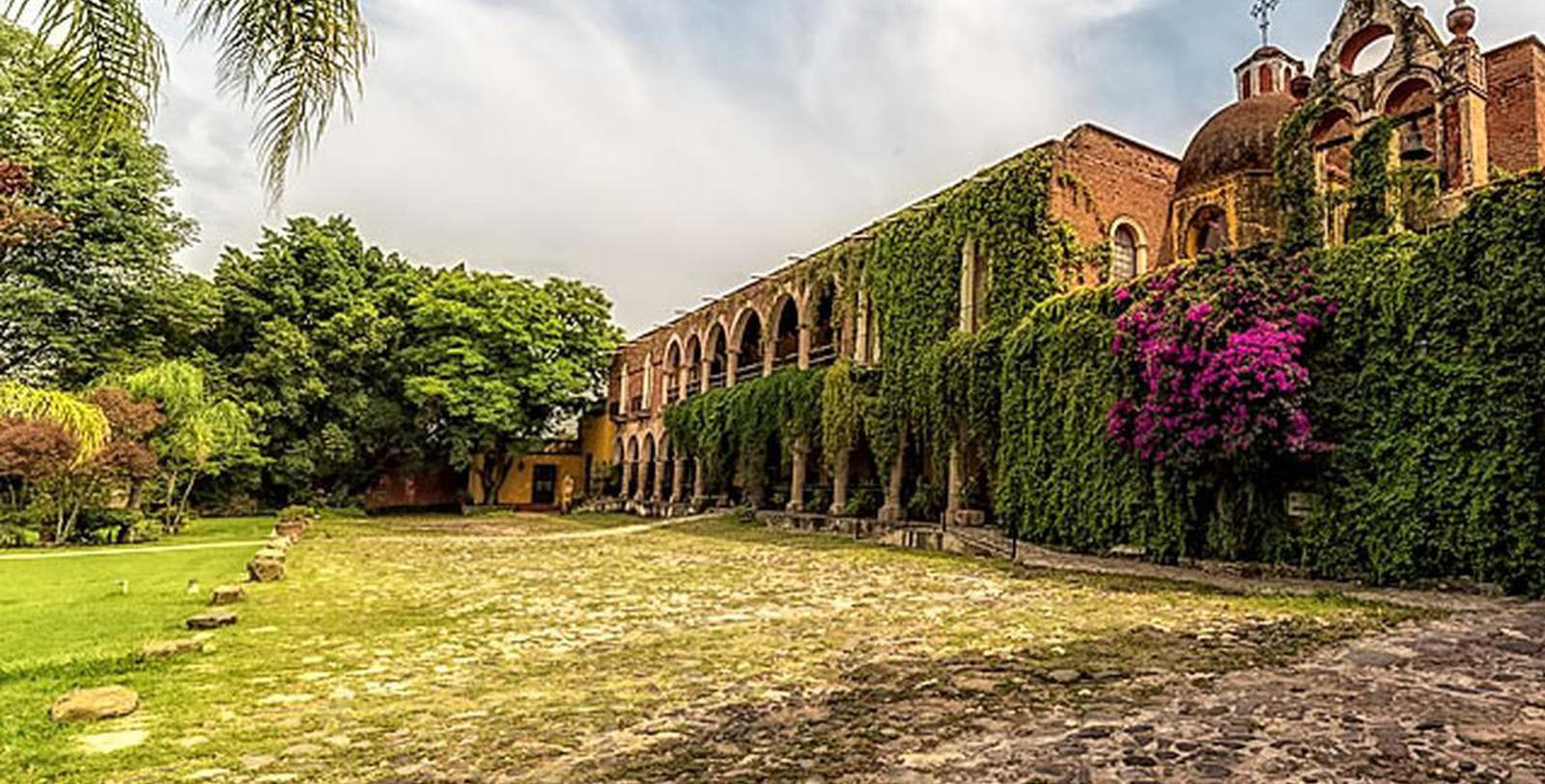 Image of Terrace & Courtyard, Hacienda el Carmen Hotel & Spa, Ahualulco de Mercado, 1722, Member of Historic Hotels Worldwide, Experience
