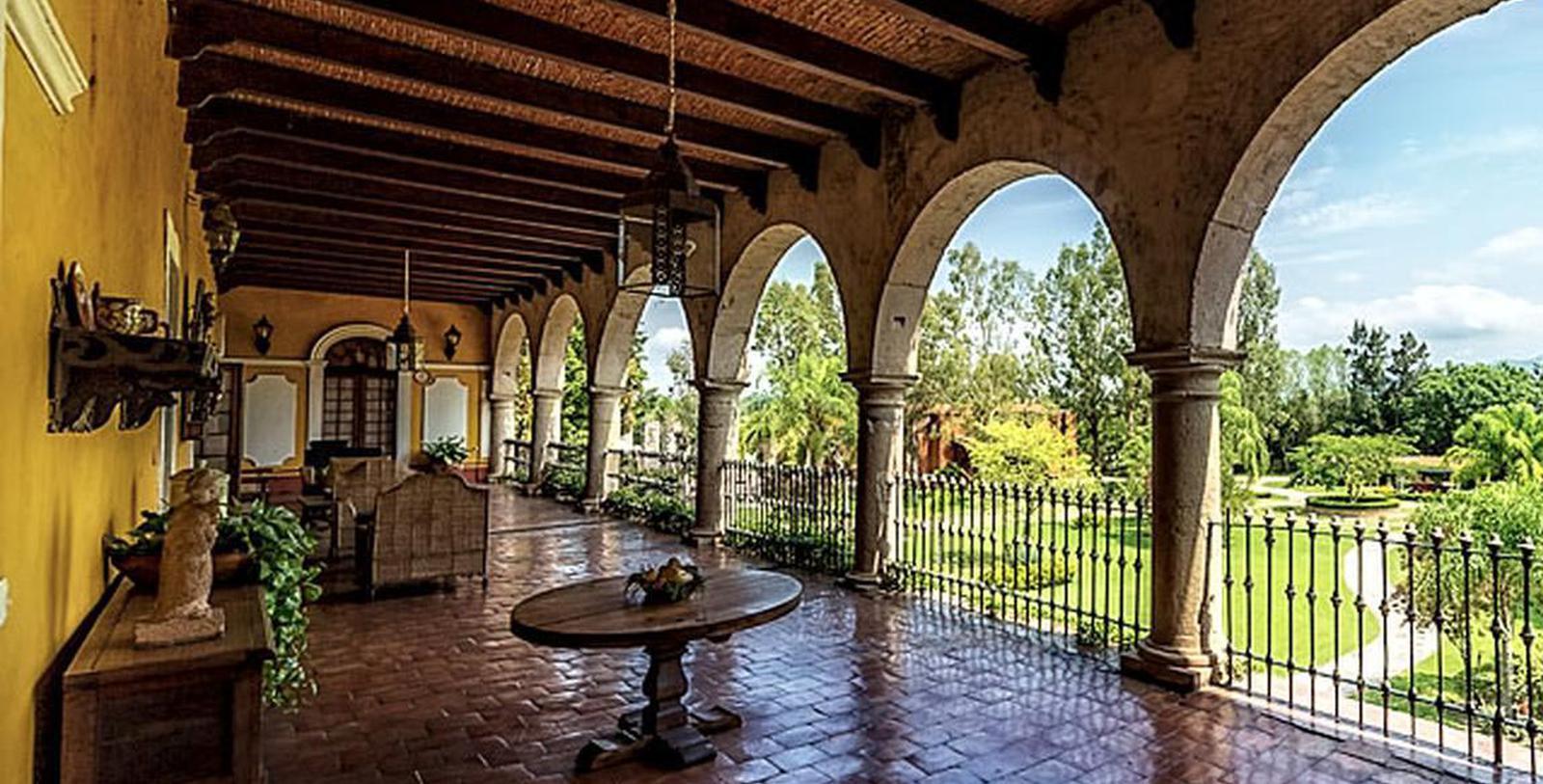 Image of Terrace & Courtyard, Hacienda el Carmen Hotel & Spa, Ahualulco de Mercado, 1722, Member of Historic Hotels Worldwide, Experience