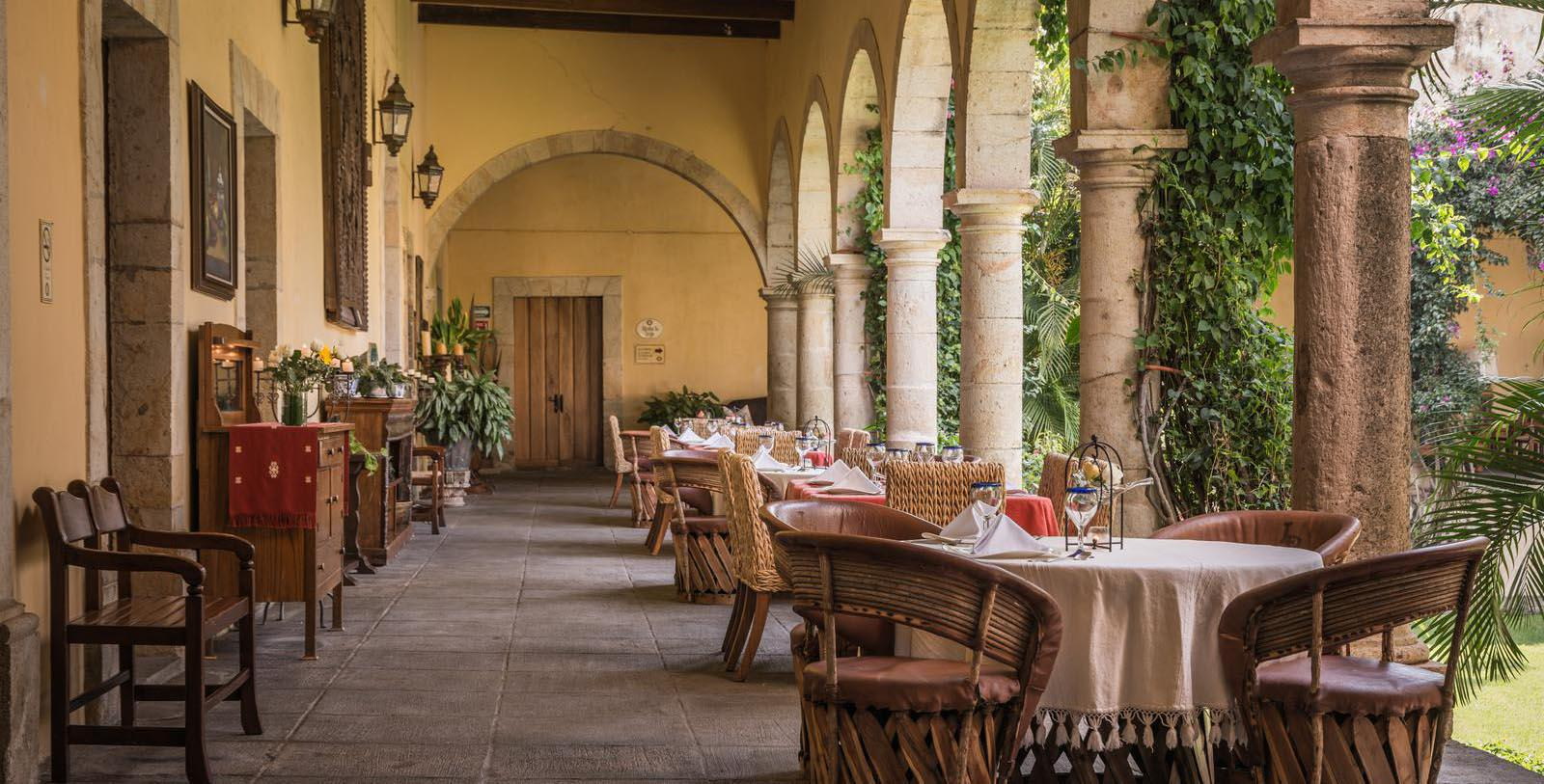Image of Restaurant Patio, Hacienda Labor de Rivera, Teuchitlán, Mexico, 1700, Member of Historic Hotels Worldwide, Experience