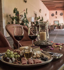 Dining at      Hacienda Labor de Rivera  in Teuchitlán