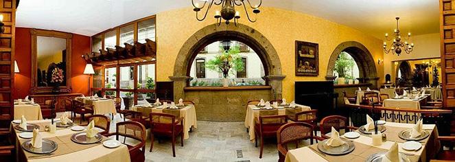 Dining at      Hotel de Mendoza  in Guadalajara
