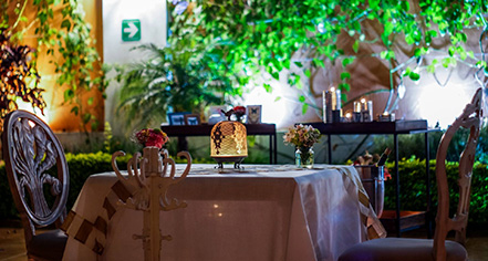 Dining at      Hotel San Pietro  in Tlaquepaque