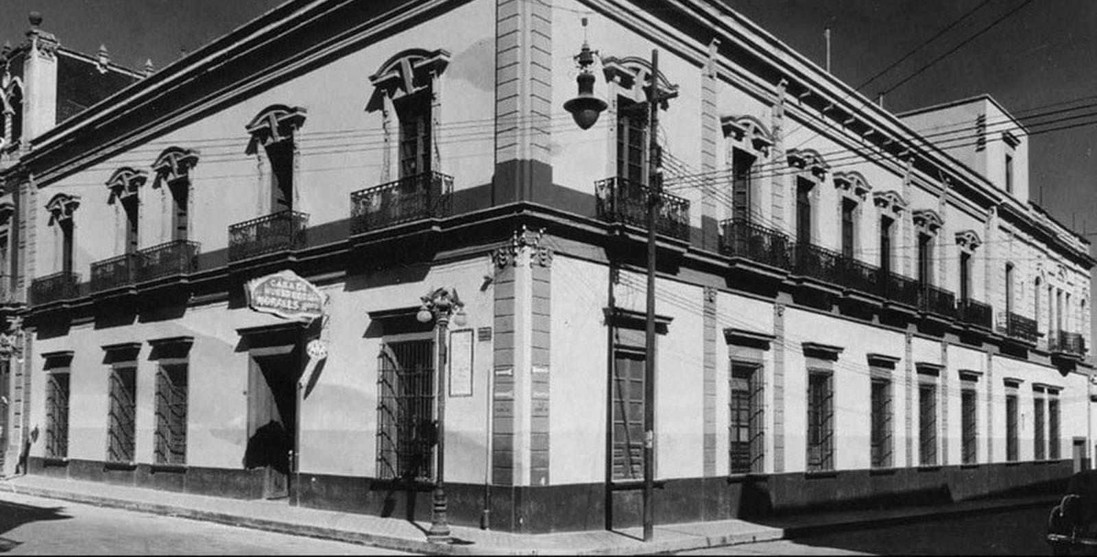 Historic Exterior of Hotel Morales in Guadalajara, Jalisco, Mexico