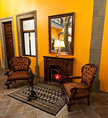 Image of Lobby Detail, Hotel Morales, Guadalajara, Mexico, 1800s, Member of Historic Hotels Worldwide, Discover