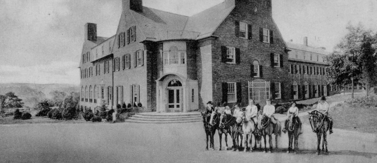 Historic Image of Hotel Exterior The Spa at Norwich Inn, 1929, Member of Historic Hotels of America, in Norwich, Connecticut, Discover