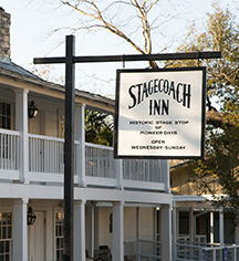 Accommodations:      The Stagecoach Inn  in Salado