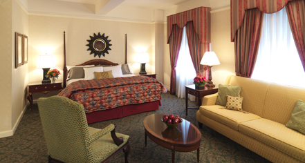 Accommodations:      Amway Grand Plaza Hotel  in Grand Rapids