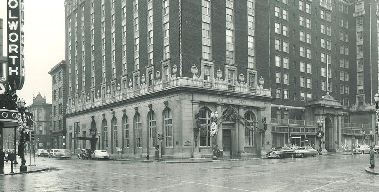 Image of Historic Exterior of Amway Grand Plaza Hotel, 1913, 1913, Member of Historic Hotels of America, in Grand Rapids, Michigan, Discover