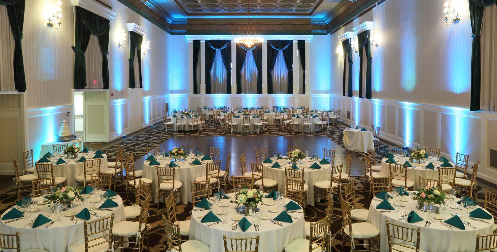 Image of grand meeting hall wedding reception at Gettysburg Hotel, Est.1797, Member of Historic Hotels of America, in Gettysburg, Pennsylvania, Experience