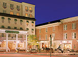 Image of hotel exterior at Gettysburg Hotel, Est.1797, Member of Historic Hotels of America, in Gettysburg, Pennsylvania, Special Offers, Discounted Rates, Families, Romantic Escape, Honeymoons, Anniversaries, Reunions