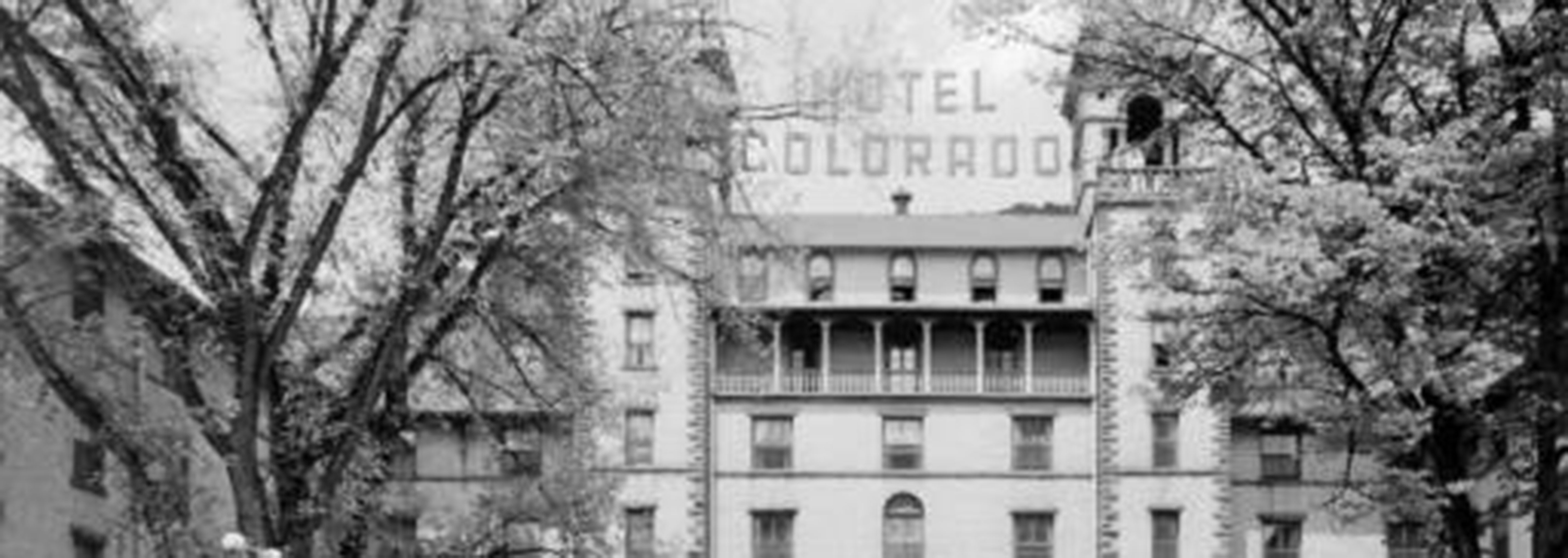 Historic image of hotel exterior at the Hotel Colorado, 1893, Member of Historic Hotels of America, Glenwood Springs, Colorado, Discover
