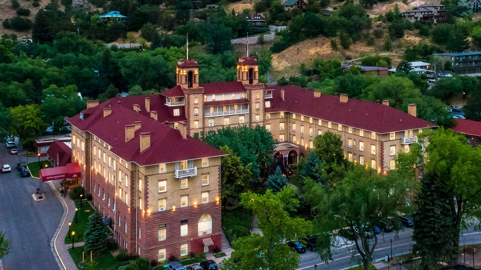 Image of hotel exterior at the Hotel Colorado, 1893, Member of Historic Hotels of America, Glenwood Springs, Colorado, Overview
