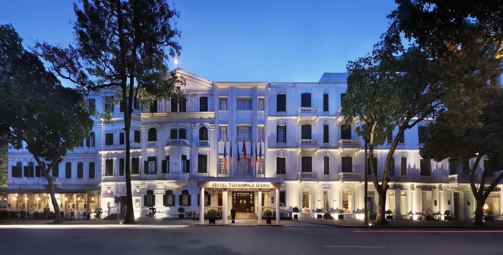 Image of Hotel Exterior Sofitel Legend Metropole Hanoi, 1901, Member of Historic Hotels Worldwide, in Hanoi, Vietnam, Special Offers, Discounted Rates, Families, Romantic Escape, Honeymoons, Anniversaries, Reunions